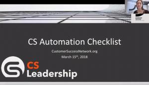 CS Automation Checklist - 15th March 2018