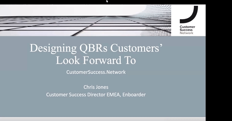 Designing Quarterly Business Reviews (QBRs) Customers Look Forward To